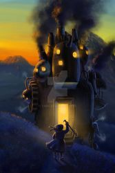 owl's moving castle by taibu