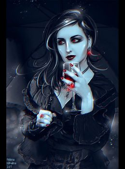 Lady Vampire (Commission) + Video by Nikulina-Helena