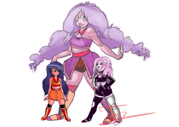 Kunzite + Macey :commission: by Twizzler787