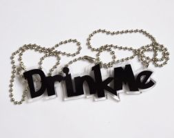 Drink Me acrylic necklace by milkool