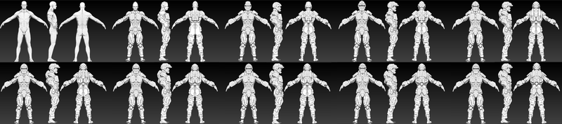 ZBRUSH WIP - SciFi Armor Progess 01 by VR-Robotica