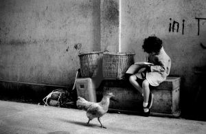 :: girl and chicken :: by djati