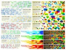 colorful banner background vector graphics by vectorbackgrounds