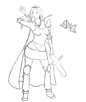 Armadyl girl lineart by ZxC-Kate