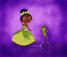 Tiana and her Froggy Prince by Nippy13