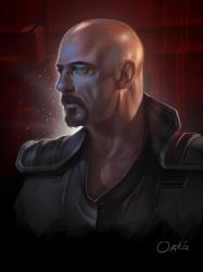 Command and Conquer Brotherhood of NOD Kane scetch by Ork-artist