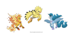 Ponikemon Trio of Kanto by Almairis