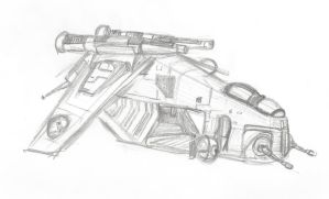Star Wars republic gunship sketch by Tuftedplanelucy99