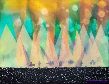 live concert lights painting by bRiANmoSsARt