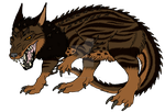 Brown Linear Tabby Indomizoth adopt ~Closed~ by Shadow-Hyder