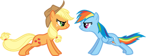 Applejack # 6 and Rainbow Dash # 7 (request) by LMan225