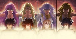 Saint Seiya guardians by MCAshe
