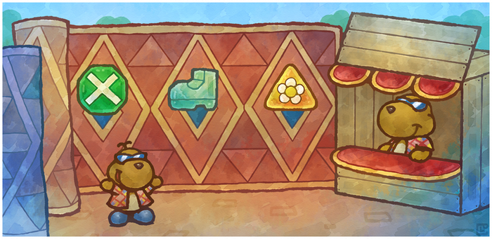 Paper Mario 64: Rowf's Badge Shop by Louivi