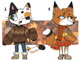 [CLOSED] Sketchy Fall Adopts by BirdOfInk