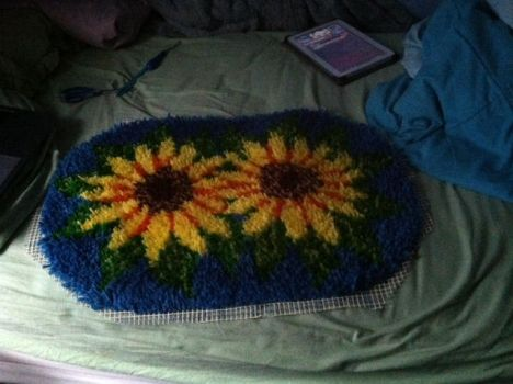 Sunflower Rug by froggychick12
