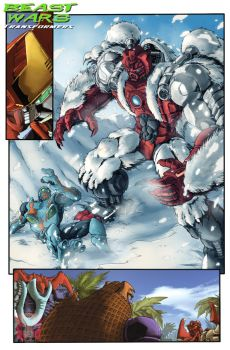 Beast Wars preview page by dcjosh