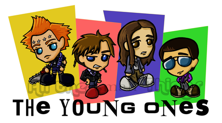 The Young Ones chibis by Kasandra-Callalily