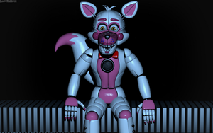 C4d | Funtime Foxy in Parts and Service by Smiley-Facade