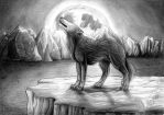 howling wolf by xDunkelseelex