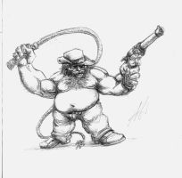 Sketch - Indiana Dwarf by SaTTaR