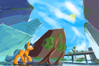 Quick AU painting by HyperDashPony