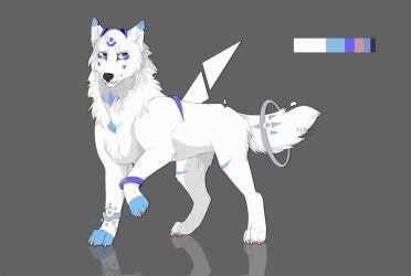 commission-white wolf by Hinglose
