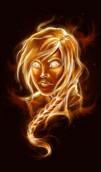 The Girl on Fire by lorellashray
