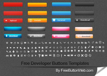 Free Developer Buttons Templates by button-finder