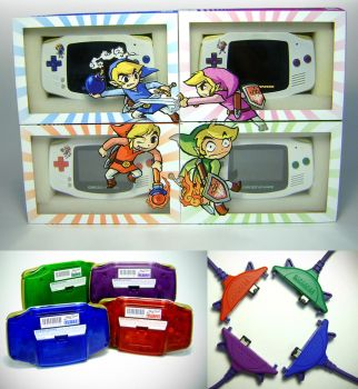 Custom modded Gameboy Advance Package Design by RoseColoredGaming