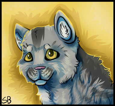 Graystripe Portrait by Forever-Wolfy