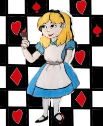 Alice in Wonderland  by melody-brave