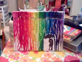 rainbow rain finished work by AngiePieXD