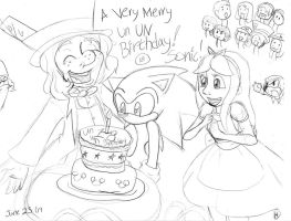 Sonic's 18th Un UN Birthday by SonicHearts