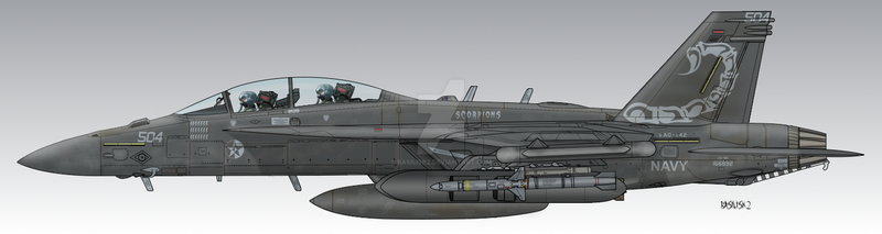 EA-18G Growler VAQ-142 Osean Navy by Basilisk2