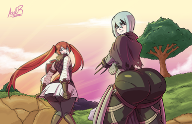 Commission - Fire Emblem Glutes Part 2 by Axel-Rosered