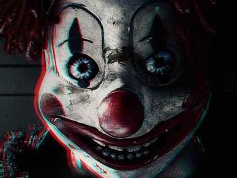 Crazy Clown 3-D conversion by MVRamsey