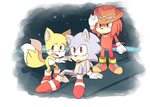 Sonic OVA redraw: The trio by DiachanX