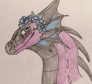 here's En with flowers because I like flowers now by EndgameTheDragon