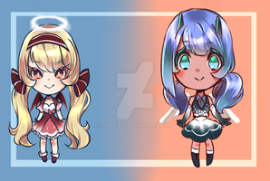 [OPEN AUCTION ADOPTABLE]Angel and demon~ by Shee-ry