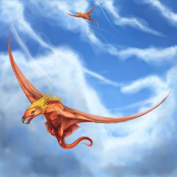 Fire-wyverns by housunnappi