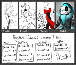 Commission Prices by KrystaliaProductions