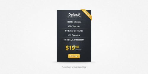 Price Table Free PSD by ahmadhania