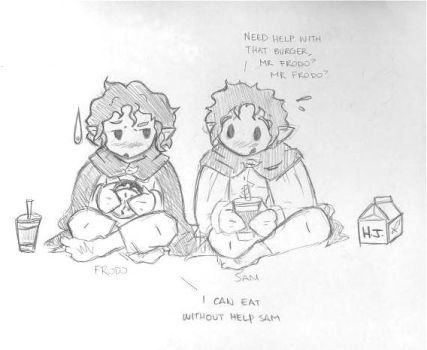 Frodo and Sam. by lepun