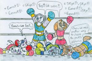 Boxing  Paw Patrol  by Jose-Ramiro