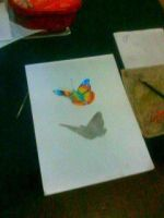 2013 drawing - 3d butterfly :) by nielopena