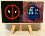 Magnets: Deadpool 01 and Tardis 01 by wolf-girl87