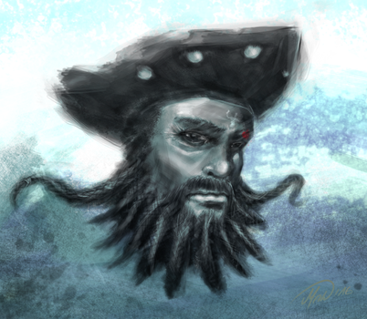 Edward Thatch / Blackbeard by moo-foo