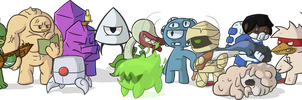 Nuclear Throne Characters by WilliamCTz