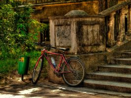 lonely bicycle HDR by HeretyczkaA