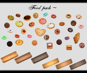 [MMD] Food Pack DL ~ by o-DSV-o